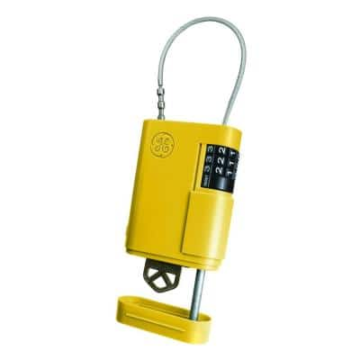 Stor-A-Key Locking Key Safe with Cable, Yellow