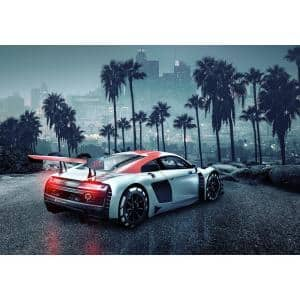 Audi R8 L.A. Cityscapes Wall Mural