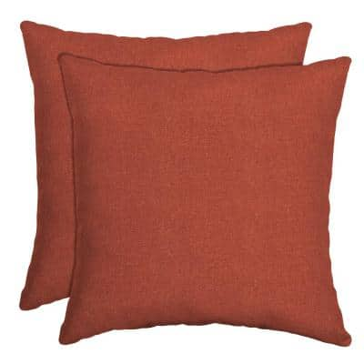 16 in. x 16 in. Sedona Woven Outdoor Throw Pillow (2-Pack)
