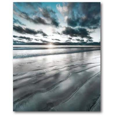 Silver Sun 30 in. x 40 in. Gallery-Wrapped Canvas Wall Art