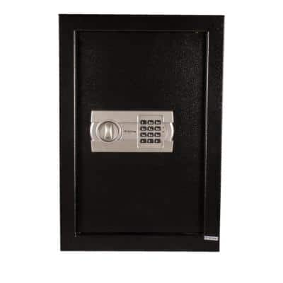 0.35 cu. ft. Steel Wall Safe with Electronic Lock, Black
