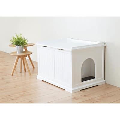 Wooden Pet House XL and Litter Box