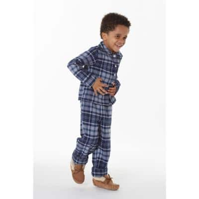 Family Flannel Company Cotton™ Kid's Pajama Set in Navy Plaid