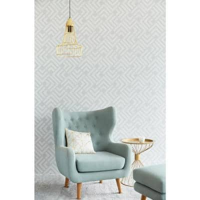 Zig Grey Geometric Wallpaper