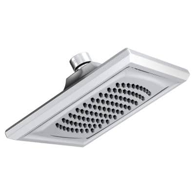 Town Squre 1-Spray 6.3 in. Single Wall Mount Fixed Shower Head in Polished Chrome