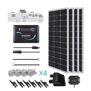 400-Watt Monocrystalline Solar RV Kit with 30 Amp Charger Controller