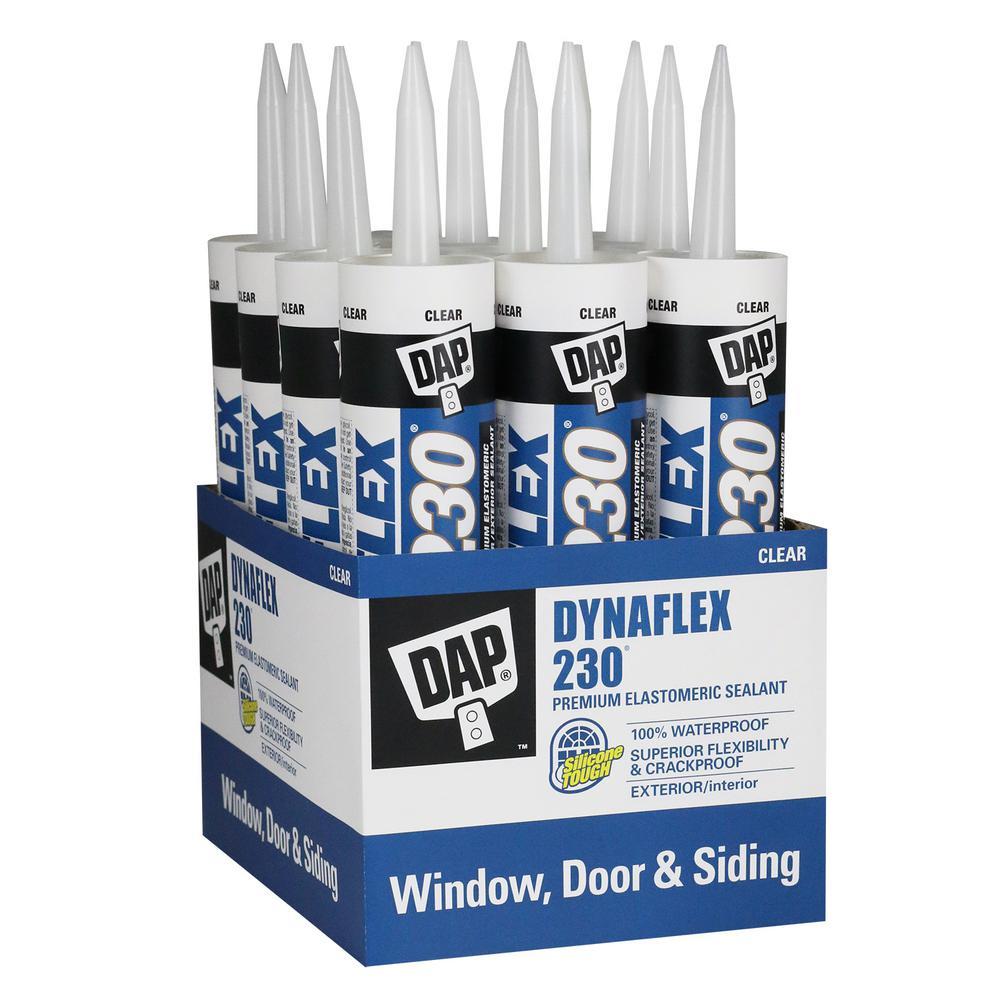 Dynaflex 230 10.1 oz. Clear Premium Exterior/Interior Window, Door and Trim Sealant (12-Pack)