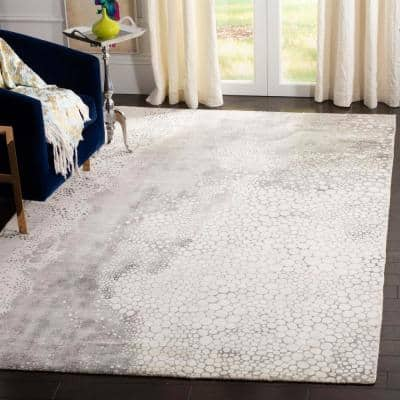 Mirage Gray 9 ft. x 12 ft. Abstract Area Rug