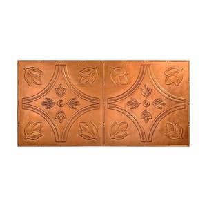 Traditional #5 2 ft. x 4 ft. Glue Up Vinyl Ceiling Tile in Antique Bronze (40 sq. ft.)