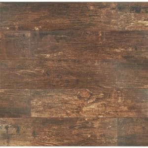 Redwood Mahogany 6 in. x 24 in. Matte Porcelain Floor and Wall Tile (10 sq. ft. / case)