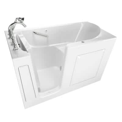 Exclusive Series 60 in. x 30 in. Left Hand Walk-In Air Bath Tub with Quick Drain in White