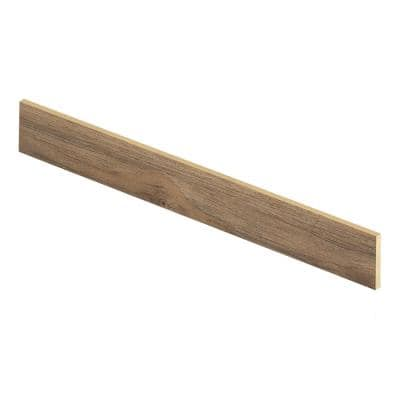 Lakeshore Pecan 94 in. Length x 1/2 in. Deep x 7-3/8 in. Height Laminate Riser to be Used with Cap A Tread
