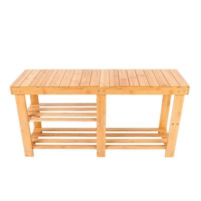 Wood Bamboo Shoe Rack