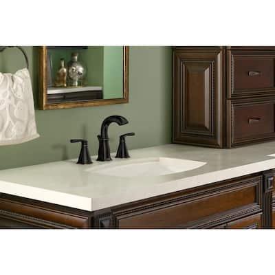 Hensley 8 in. Widespread 2-Handle Bathroom Faucet in Mediterranean Bronze
