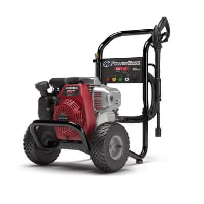 3100 PSI 2.5 GPM Cold Water Gas Pressure Washer with Horizontal Honda GC190 Engine