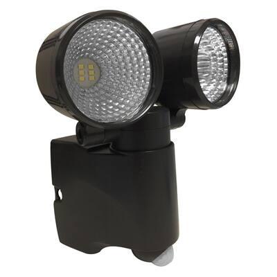 Acclaim Lighting Battery Operated Bronze Led Dual Head Mega Bright Spotlight With Motion Sensor B255bz The Home Depot