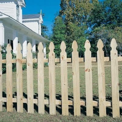3/4 in. x 3-1/2 in. x 4 ft. Pressure-Treated Pine French Gothic Fence Picket