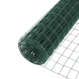 3 ft. x 50 ft. Green PVC Coated Welded Wire