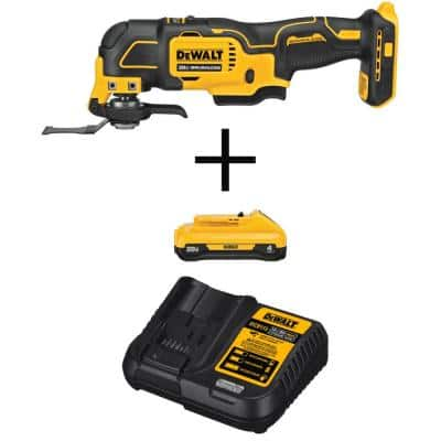 ATOMIC 20-Volt MAX Cordless Brushless Oscillating Multi-Tool with (1) 20-Volt Battery 4.0Ah & Charger
