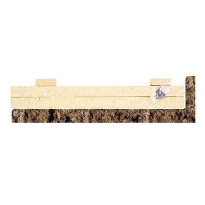 5-5/16 in. 25-1/4 in. Laminate Endcap Kit in Milano Brown with Waterfall Edge