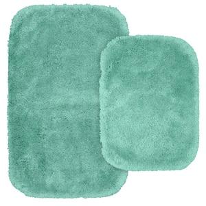 Finest Luxury Sea Foam 2-Piece Washable Bathroom Rug Set