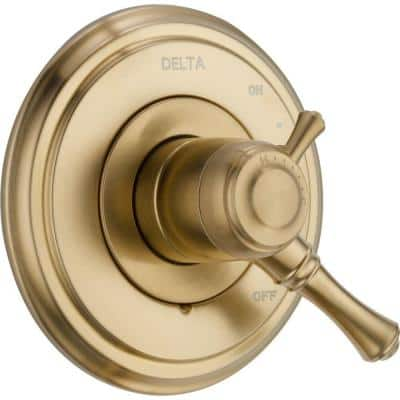 Cassidy 1-Handle Volume/Temperature Control Valve Trim Kit in Champagne Bronze (Valve Not Included)