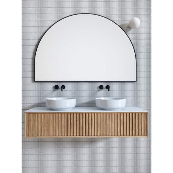 H Framed Arched Bathroom Vanity Mirror, Bathroom Mirror 40 X 60