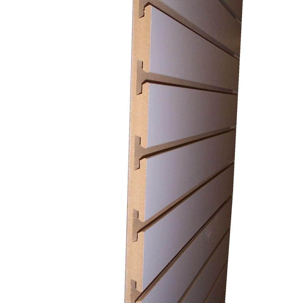 3 4 In X 24 In X 8 Ft White Slatwall Melamine Board 663765 The Home Depot