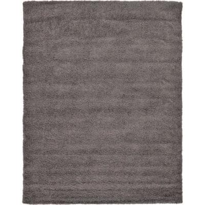Solid Shag Graphite Gray 2 ft. x 3 ft. Area Rug