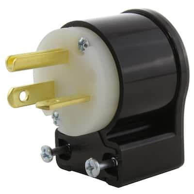 20 Amp 250-Volt NEMA 6-20P 3-Prong All Angles Elbow Industrial Grade Male Plug