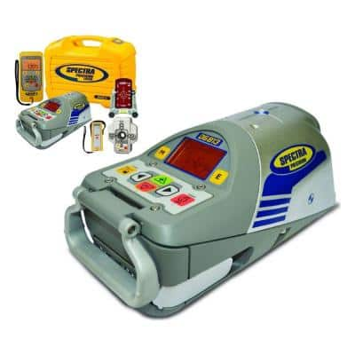 DG813 Red Beam Electronic Self-Leveling Pipe Laser Level with Spot Align Centering Plate and RC803 Remote