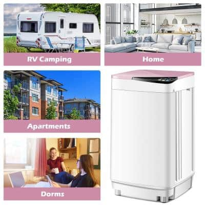 Pink Full-Automatic Washing Machine Washer with Germicidal UV Light