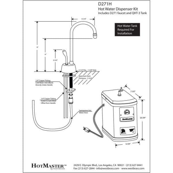 Tools & Home Improvement Westbrass Develosah 2-Handle Hot and Cold ...