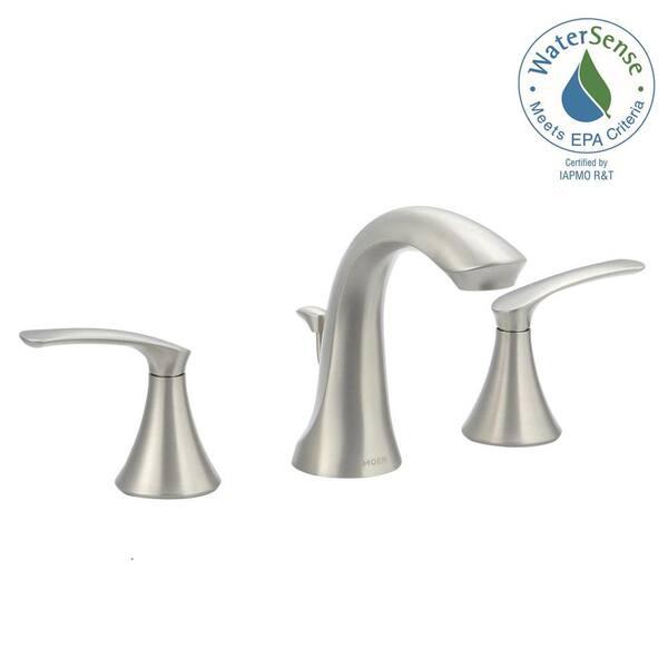 Handle High Arc Bathroom Faucet, Moen Bathroom Faucets Widespread Brushed Nickel