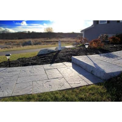 Patio-on-a-Pallet 12in. x 24in. and 24in. x 24in. Concrete Gray Basketweave Yorkstone Paver (18 Pieces/48 Sq Ft.)
