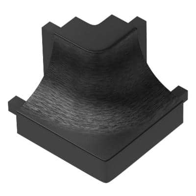 Dilex-AHK Brushed Graphite Anodized Aluminum 1/2 in. x 1 in. Metal 90 Degree Outside Corner