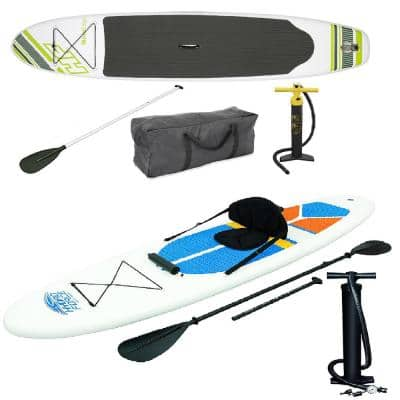Inflatable Hydro Force Wave Edge Stand Up Paddle Board in Green, White