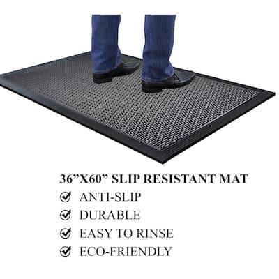 A1HC Capsule Stud 36 in. x 60 in. Rubber Clean Step Scraper Floor Mat