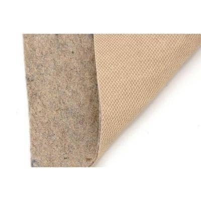 All-Surface Thin Profile 6 ft. Round Fiber and Rubber Backed Non-Slip Rug Pad