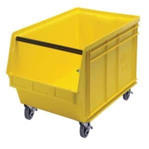 Magnum Mobile 27-Gal. Storage Tote in Yellow (1-Pack)