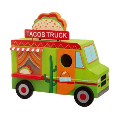 9.45 in. L Wooden Mexico Taco Truck Birdhouse
