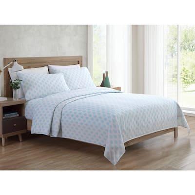 Bedding Sheet Set, Paisley - Aqua, 4pc King