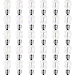11-Watt Equivalent S14 Shatter-Resistant String Light Edison LED Bulbs Warm White 2700K (30-Pack)