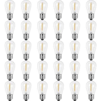 11-Watt Equivalent S14 Shatter-Resistant String Light Edison LED Bulbs Warm White 2700K (30-Pack)