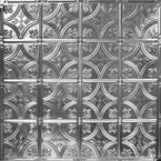 24 in. x 24 in. Pattern Number-3 Brushed Satin Nickel Tin Wall Tile Backsplash Kit (5-Pack)