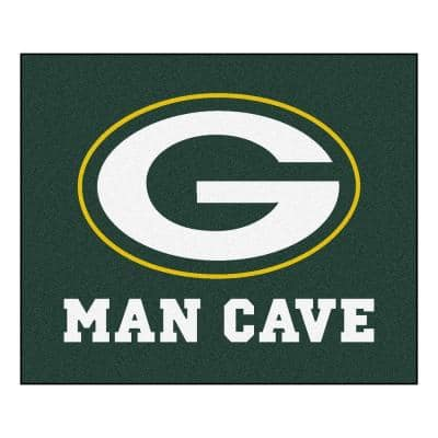 Green Bay Packers Green Man Cave 5 ft. x 6 ft. Area Rug