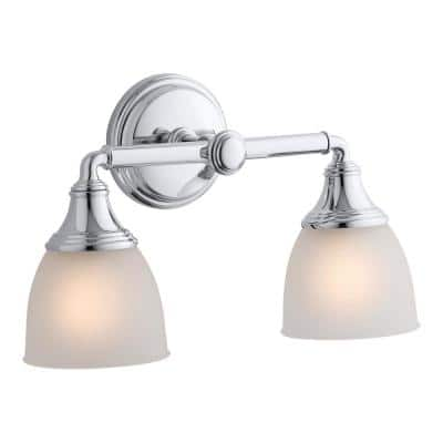 Devonshire 2-Light Polished Chrome Wall Sconce