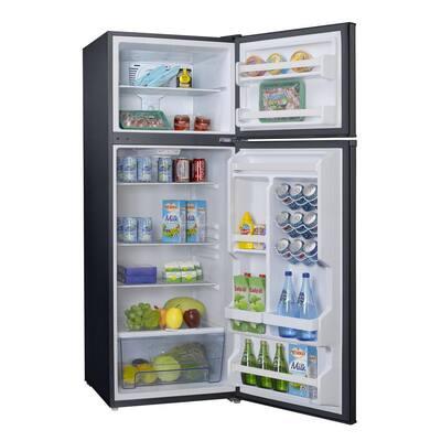12.0 cu. ft. Top Freezer Retro Refrigerator with Dual Door True Freezer, Frost Free in Black