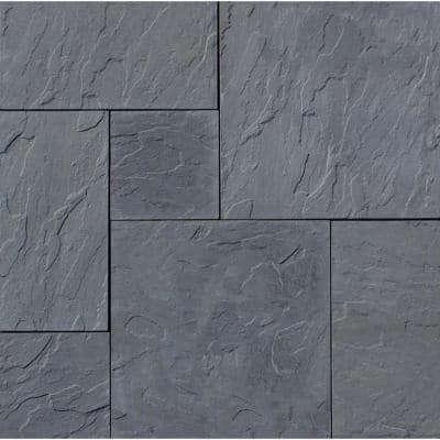 Patio-on-a-Pallet 120 in. x 120 in. Gray Dutch York-Stone Concrete Paver (Pallet of 44-Pieces)