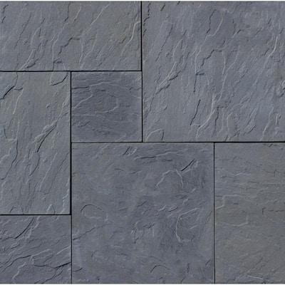 Patio-on-a-pallet 10 ft. x 10 ft. Gray Dutch York-Stone Concrete Pavers (44 Pieces/100 Sq Ft)